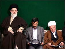 احمدی نژاد، رفسنجانی و خامنه ای