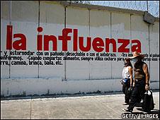 Anuncio de influenza en México