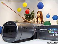 Una videocámara de Panasonic
