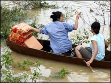 Miền Trung Việt Nam chịu nhiều lũ thời gian gần đây