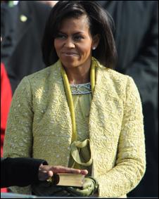 Michelle Obama en la toma de posesión del presidente de EE.UU.