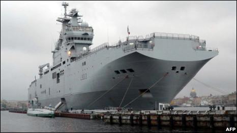 Tàu đổ bộ Mistral của Pháp
