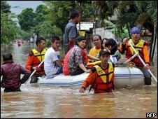 印尼海啸灾民