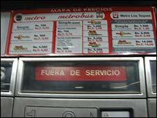 """Máquina que despacha boletos que dice """"Fuera de servicio"""""""