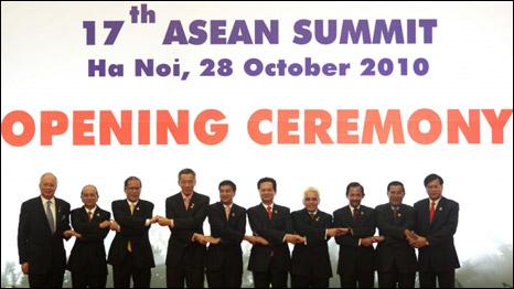 Lãnh đạo các nước Asean tại phiên khai mạc