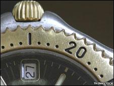 Un reloj de pulsera