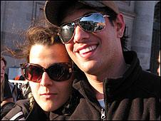 Luis Ruiz con su novia