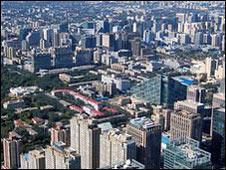 Bắc Kinh nhìn từ cửa sổ khách sạn