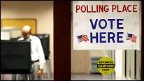 Centro de votación en EE.UU.