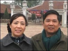 Hai vợ chồng ông Cù Huy Hà Vũ