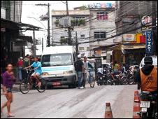 Calle de la Rocinha, favela de Río de Janeiro