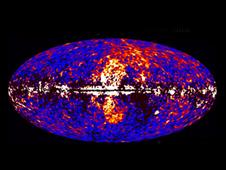 Imágenes tomadas por el telescopio Fermi de Gran Alcance. <i>Foto: NASA / DOE / Fermi LAT / D. Finkbeiner et al.</i>
