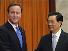 Hai ông David Cameron và Hồ Cẩm Đào