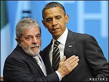 Os presidentes do Brasil, Lula e Obama