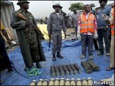 سلاحهای کشف شده ایرانی در سنگال