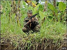 Soldado nicaragüense.
