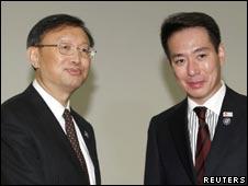 杨洁篪和前原诚司(14/11/2010)