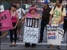 Protestas en contra de George W. Bush