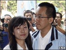 陈致中和妻子黄睿靓(16/11/2010)