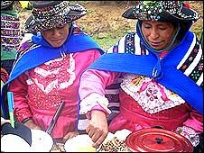 Participantes de los concursos gastronómicos con cultivos tradicionales Foto: cortesía FAO