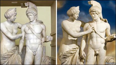 Статуя Венеры и Марса в кабинете Берлускони