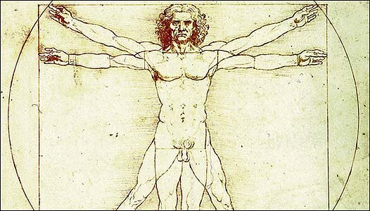 Hombre de Vitruvio, Leonardo Da Vinci