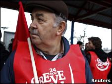 Sindicalistas na indústria da Volkswagen em Palmela, arredores de Lisboa