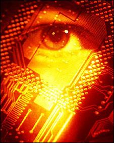 Un ojo en una tarjeta electrónica