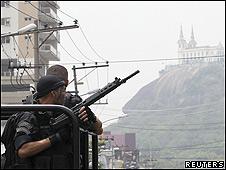 Policías en Río de Janeiro