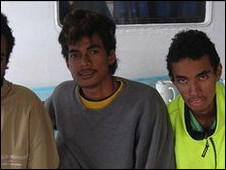 المراهقين الذين عثر عليهم