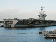 """参加美韩军演的美国航空母舰""""乔治·华盛顿""""号"""