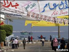 دعاية انتخابية في الإسكندرية