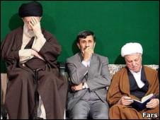 محمود احمدی نژاد، اکبر هاشمی رفسنجانی، علی خامنه ای