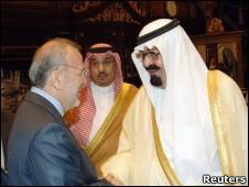 ملک عبدالله و متکی