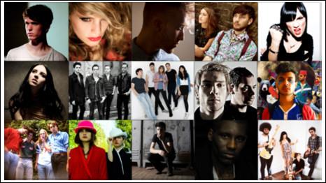 Bandas e artistas listados como as promessas para 2011 (divulgação)