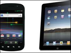 Un Nexus S y un iPad