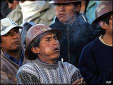 Mineros bolivianos.