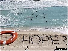 Manifestação do Greenpeace em Cancún/Reuters