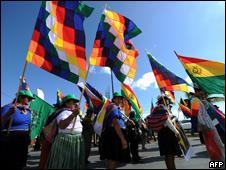 Defensores del medio ambiente boliviano