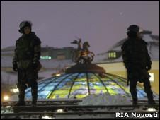 Оцепление на Манежной площади