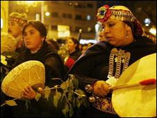 Manifestación de mapuches