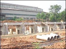 बाल्को में निर्माण कार्य