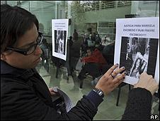 Protesta por el homicidio de Marisela Escobedo.