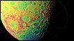 Mapa topográfico do hemisfério sul da Lua captado pelo Lola (foto: Nasa/GSFC/MIT/SVS)