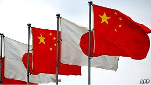 中国国旗和日本国旗