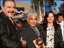 alcalde de Copiapó junto a Omar Reygadas