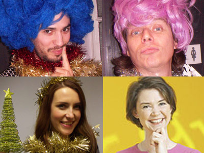 Finn, Derm, Natalie and Alice in the BBC Learning English panto