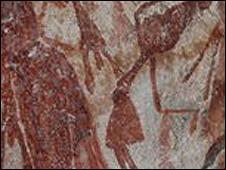 Arte rupestre (foto cortesía J. Pettigrew)