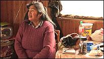 Mujer de la comunidad Temucuicui Autónoma