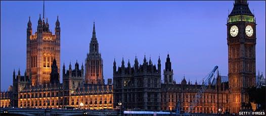 Las Casas del Parlamento en Westminster, Londres.